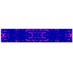 Blue And Pink Pixel Pattern Flano Scarf (Large)