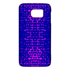Blue And Pink Pixel Pattern Galaxy S6