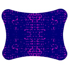 Blue And Pink Pixel Pattern Jigsaw Puzzle Photo Stand (bow)