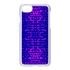 Blue And Pink Pixel Pattern Apple Iphone 7 Seamless Case (white)