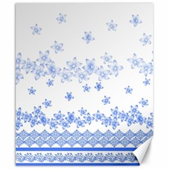 Blue And White Floral Background Canvas 20  X 24