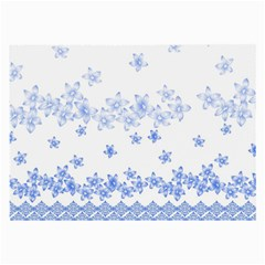 Blue And White Floral Background Large Glasses Cloth