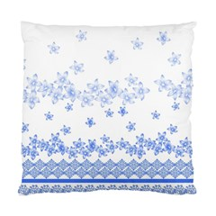 Blue And White Floral Background Standard Cushion Case (two Sides)