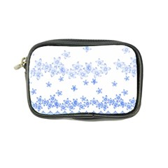 Blue And White Floral Background Coin Purse