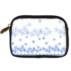 Blue And White Floral Background Digital Camera Cases