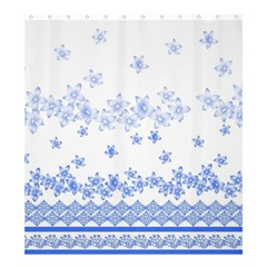 Blue And White Floral Background Shower Curtain 66  X 72  (large)