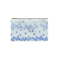 Blue And White Floral Background Cosmetic Bag (small)