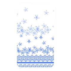 Blue And White Floral Background Memory Card Reader
