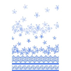 Blue And White Floral Background 5 5  X 8 5  Notebooks