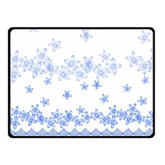 Blue And White Floral Background Fleece Blanket (small)