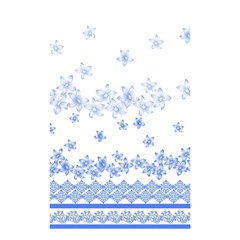 Blue And White Floral Background Shower Curtain 48  X 72  (small)