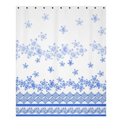 Blue And White Floral Background Shower Curtain 60  X 72  (medium)