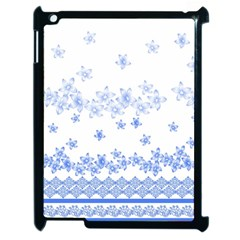 Blue And White Floral Background Apple Ipad 2 Case (black)