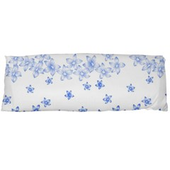 Blue And White Floral Background Body Pillow Case (dakimakura)