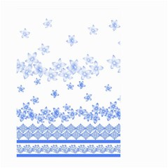 Blue And White Floral Background Large Garden Flag (two Sides)