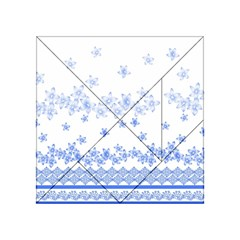 Blue And White Floral Background Acrylic Tangram Puzzle (4  X 4 )