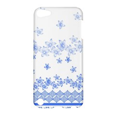 Blue And White Floral Background Apple Ipod Touch 5 Hardshell Case