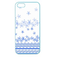 Blue And White Floral Background Apple Seamless Iphone 5 Case (color)