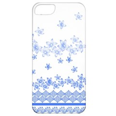 Blue And White Floral Background Apple Iphone 5 Classic Hardshell Case