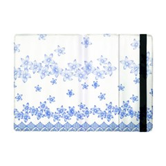 Blue And White Floral Background Apple Ipad Mini Flip Case