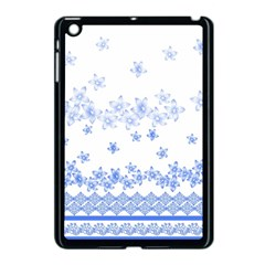 Blue And White Floral Background Apple Ipad Mini Case (black)