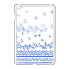 Blue And White Floral Background Apple Ipad Mini Case (white)