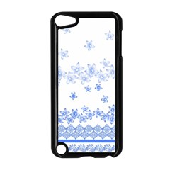 Blue And White Floral Background Apple Ipod Touch 5 Case (black)