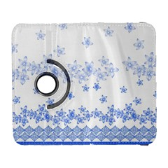 Blue And White Floral Background Galaxy S3 (flip/folio)