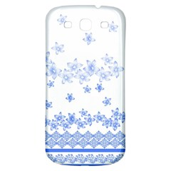 Blue And White Floral Background Samsung Galaxy S3 S Iii Classic Hardshell Back Case