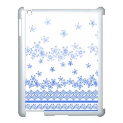 Blue And White Floral Background Apple Ipad 3/4 Case (white)
