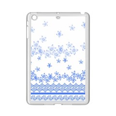 Blue And White Floral Background Ipad Mini 2 Enamel Coated Cases