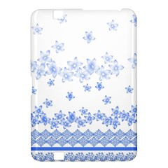 Blue And White Floral Background Kindle Fire Hd 8 9