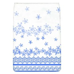 Blue And White Floral Background Flap Covers (l)