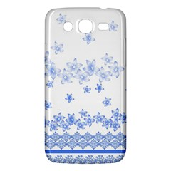 Blue And White Floral Background Samsung Galaxy Mega 5 8 I9152 Hardshell Case