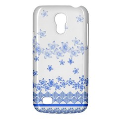 Blue And White Floral Background Galaxy S4 Mini