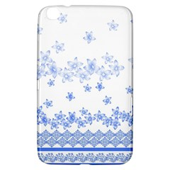 Blue And White Floral Background Samsung Galaxy Tab 3 (8 ) T3100 Hardshell Case