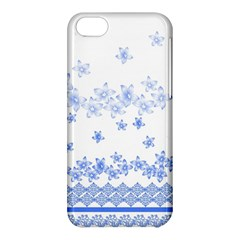 Blue And White Floral Background Apple Iphone 5c Hardshell Case