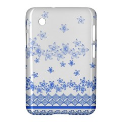Blue And White Floral Background Samsung Galaxy Tab 2 (7 ) P3100 Hardshell Case