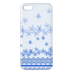 Blue And White Floral Background Iphone 5s/ Se Premium Hardshell Case