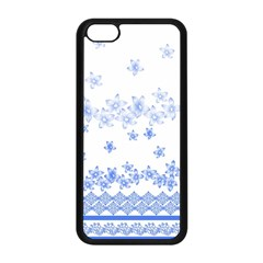 Blue And White Floral Background Apple Iphone 5c Seamless Case (black)