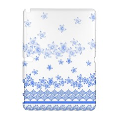 Blue And White Floral Background Galaxy Note 1