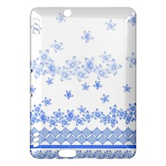 Blue And White Floral Background Kindle Fire Hdx Hardshell Case