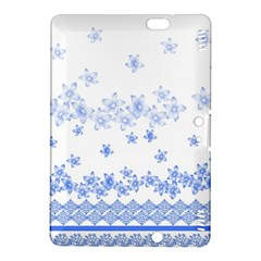 Blue And White Floral Background Kindle Fire Hdx 8 9  Hardshell Case