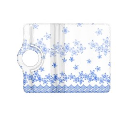 Blue And White Floral Background Kindle Fire Hd (2013) Flip 360 Case