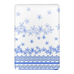 Blue And White Floral Background Samsung Galaxy Tab Pro 12 2 Hardshell Case