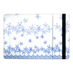 Blue And White Floral Background Samsung Galaxy Tab Pro 10 1  Flip Case