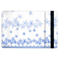 Blue And White Floral Background Ipad Air Flip