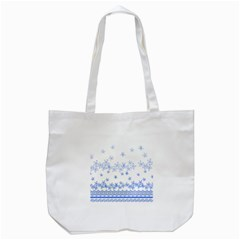 Blue And White Floral Background Tote Bag (white)