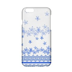 Blue And White Floral Background Apple Iphone 6/6s Hardshell Case
