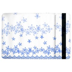 Blue And White Floral Background Ipad Air 2 Flip